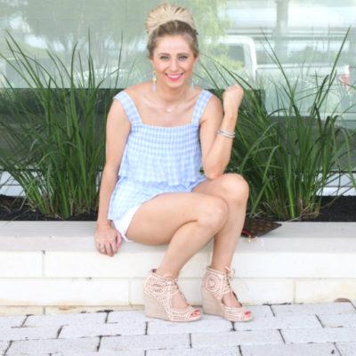 Rebecca Minkoff Gingham Top