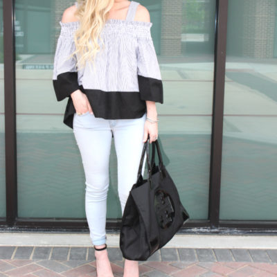 Cold Shoulder Top + What to Look Forward to in July