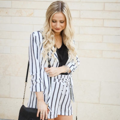 Black & White Striped Set