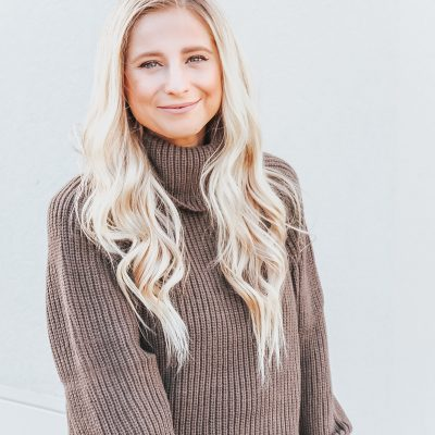 Olive Sweater Dress for Fall
